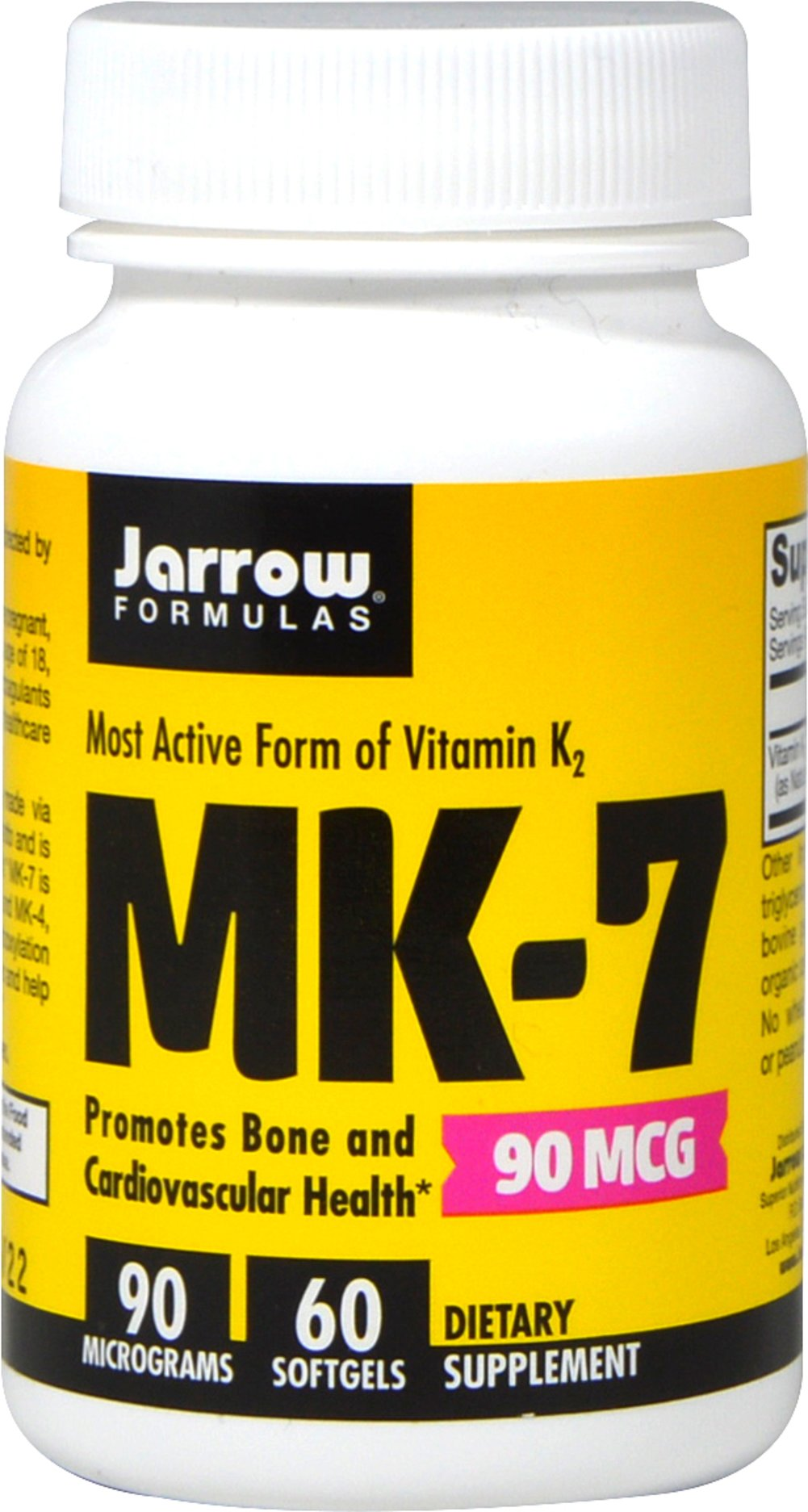 MK-7 Vitamin K2 90 mcg Thumbnail Alternate Bottle View