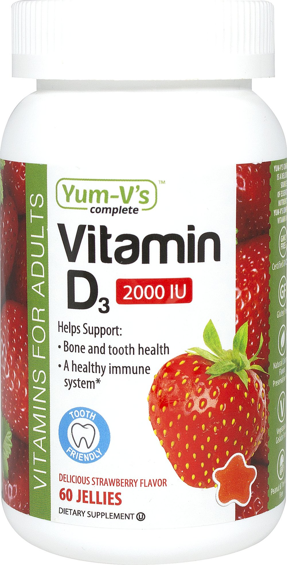 Vitamin D3 2000 IU Thumbnail Alternate Bottle View