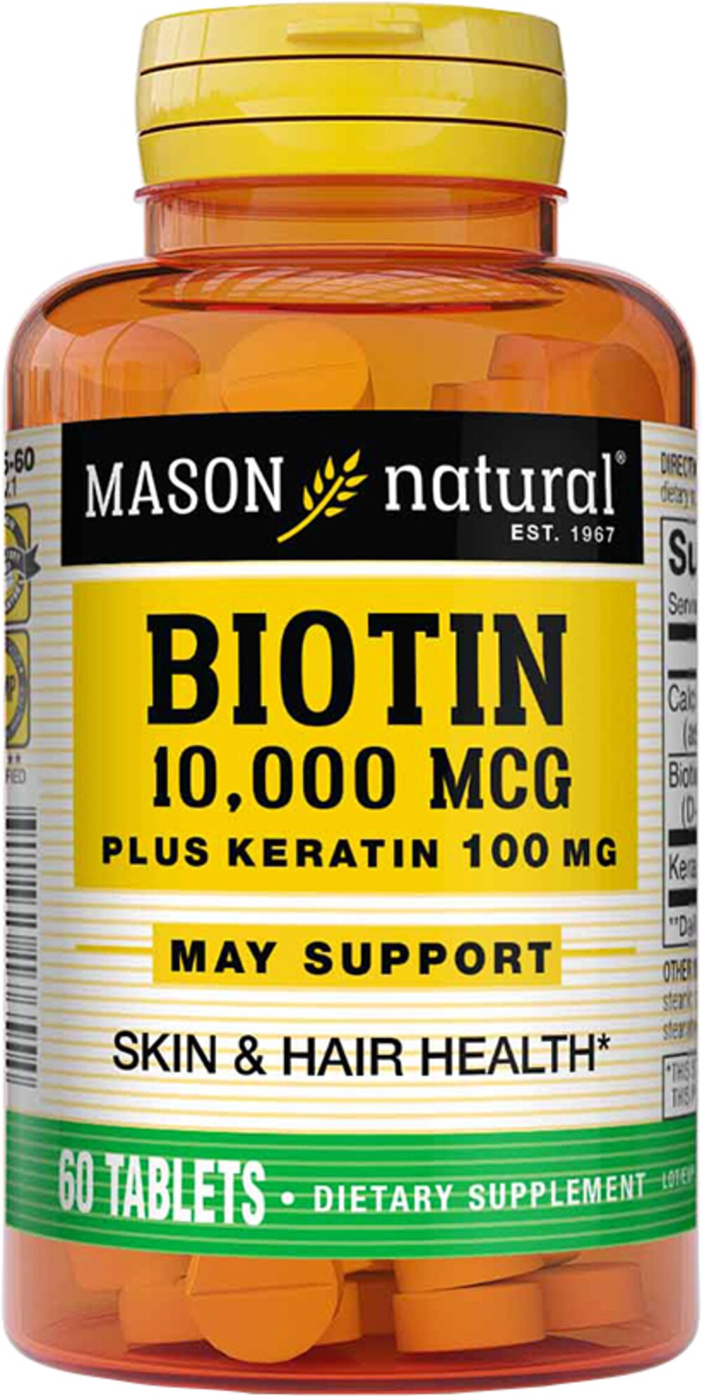 Biotin 10,000 MCG Plus Keratin 100 MG