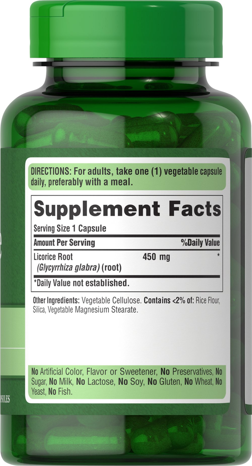 Licorice Root 450 mg Thumbnail Alternate Bottle View