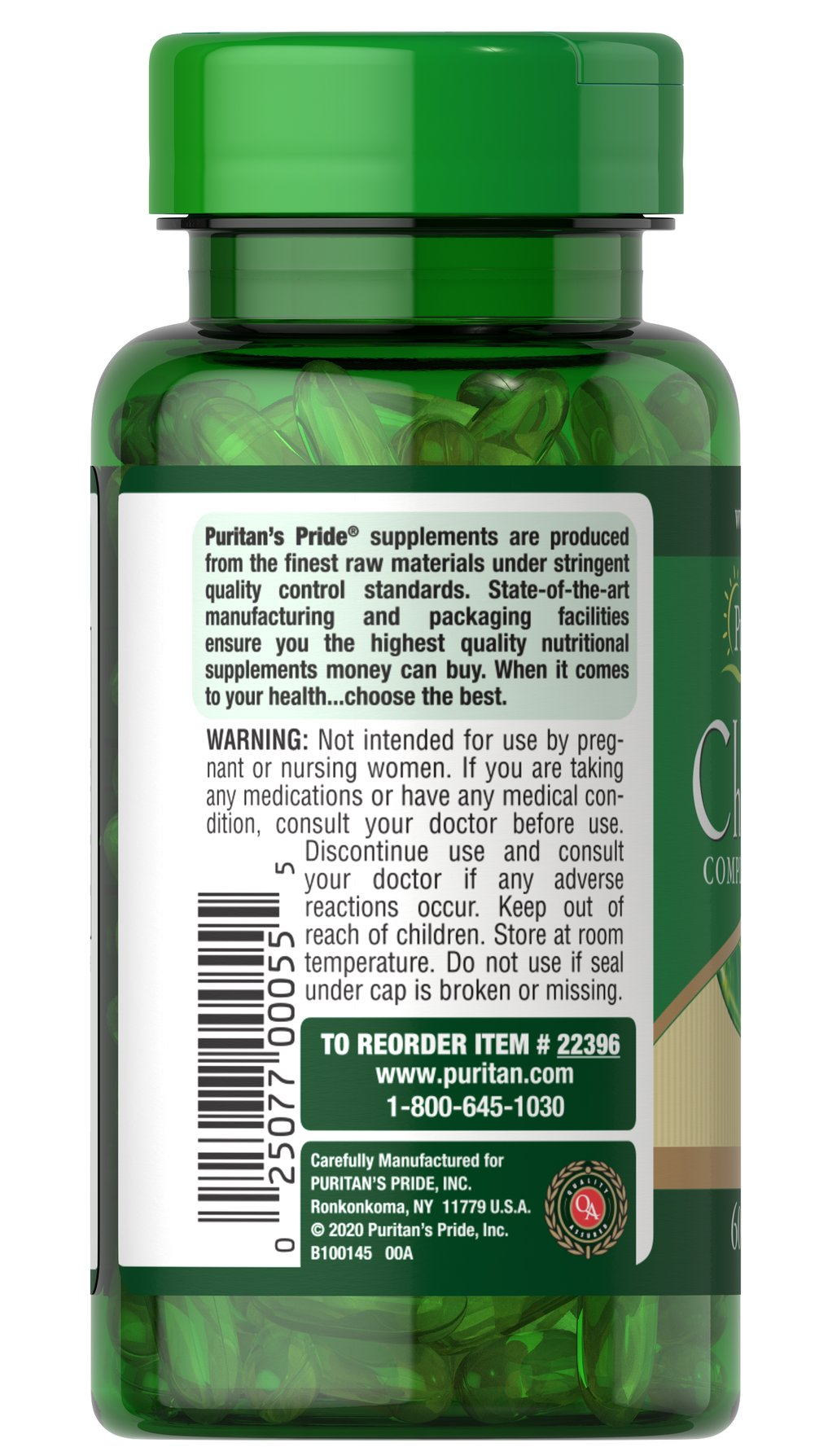 Chlorophyll Complex 100mg Thumbnail Alternate Bottle View