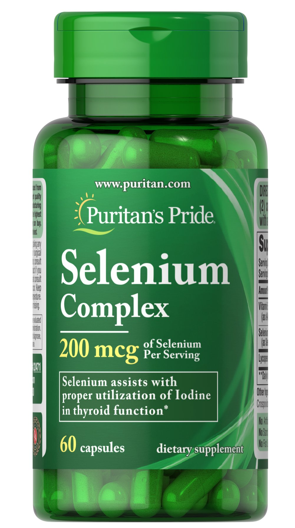 Selenium Complex 200 mcg Thumbnail Alternate Bottle View