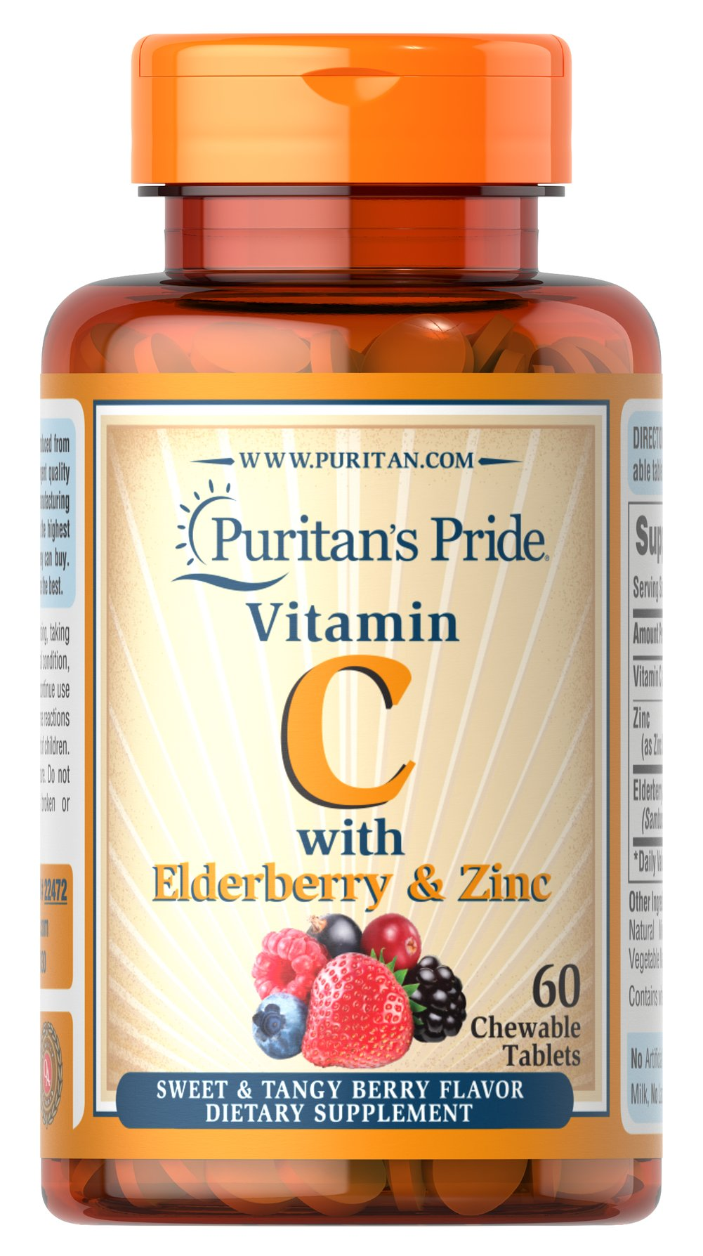 Vitamin C with Elderberry & Zinc Thumbnail Alternate Bottle View