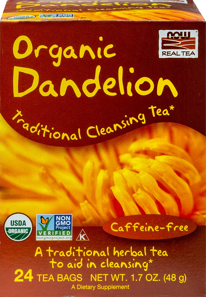 Organic Dandelion Cleansing Herbal Tea Thumbnail Alternate Bottle View