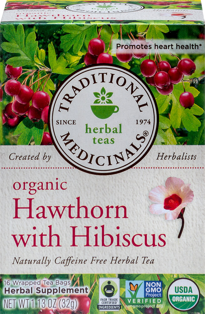 Organic Heart Tea with Hawthorn Hibiscus Thumbnail Alternate Bottle View