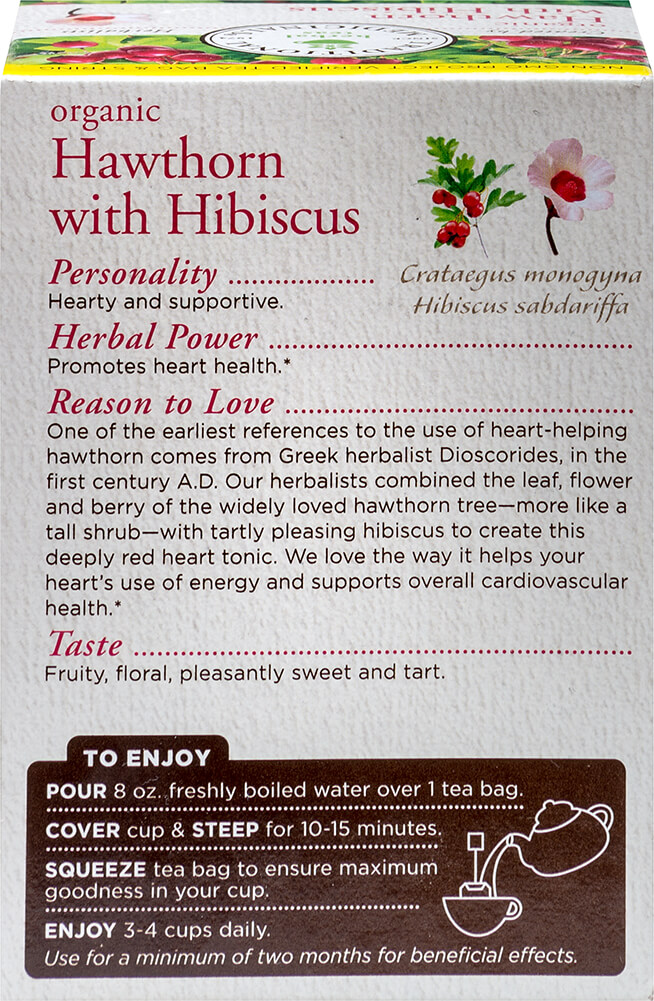 Organic Heart Tea with Hawthorn Hibiscus