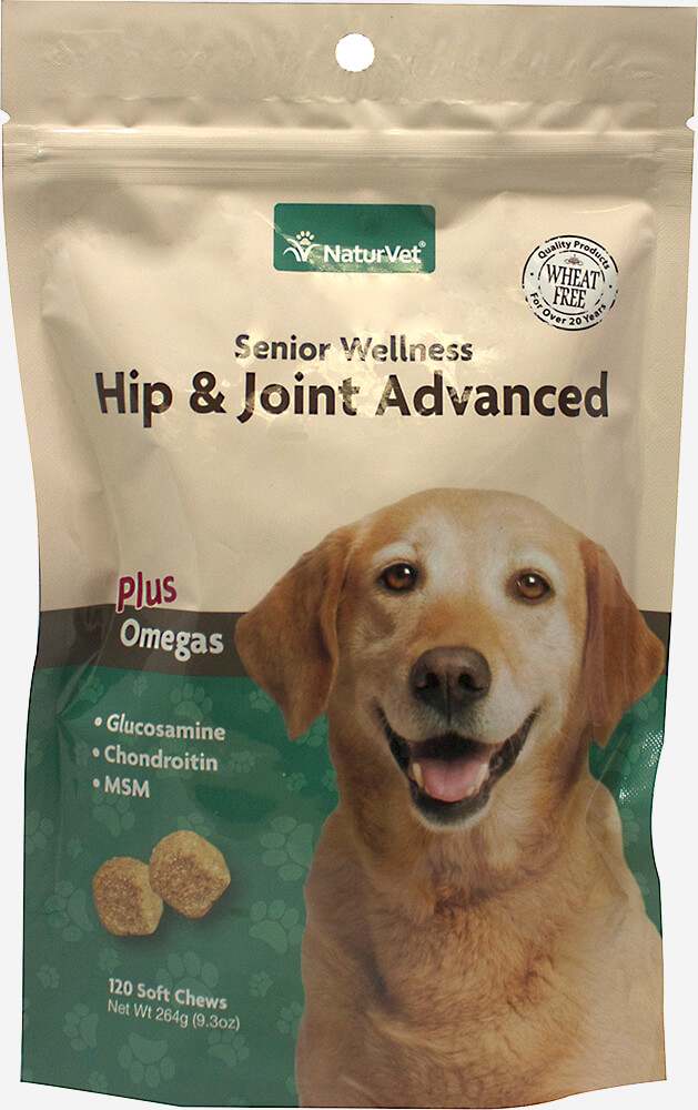 Senior Care Hip & Joint Advanced Formula Soft Chews Thumbnail Alternate Bottle View