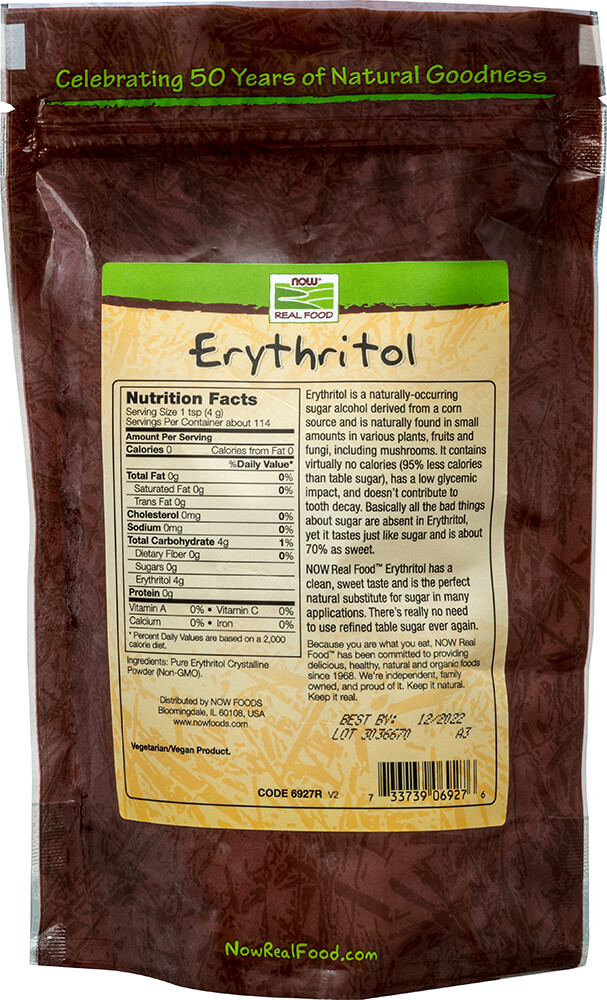 Erythritol 100% Pure Natural Sweetener Thumbnail Alternate Bottle View