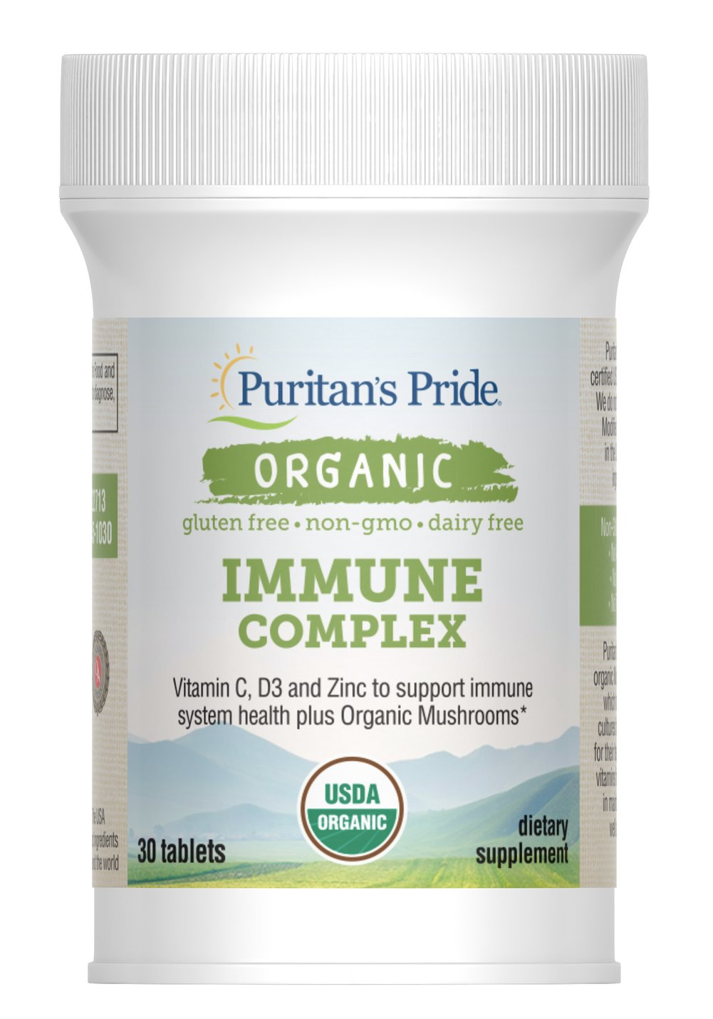 Organic Immune Complex with Mushrooms Thumbnail Alternate Bottle View