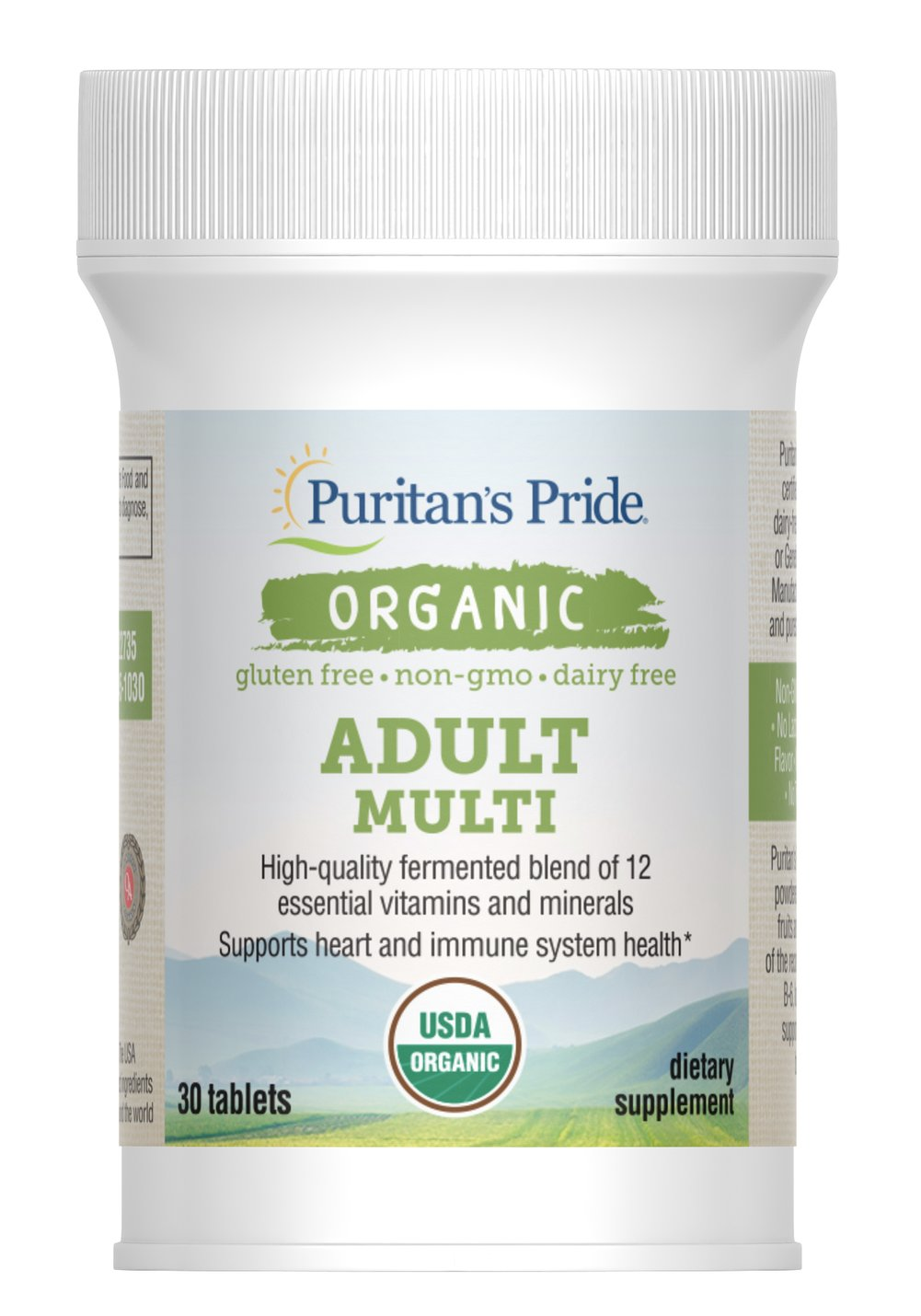 Organic Adult Multi with Zinc Thumbnail Alternate Bottle View