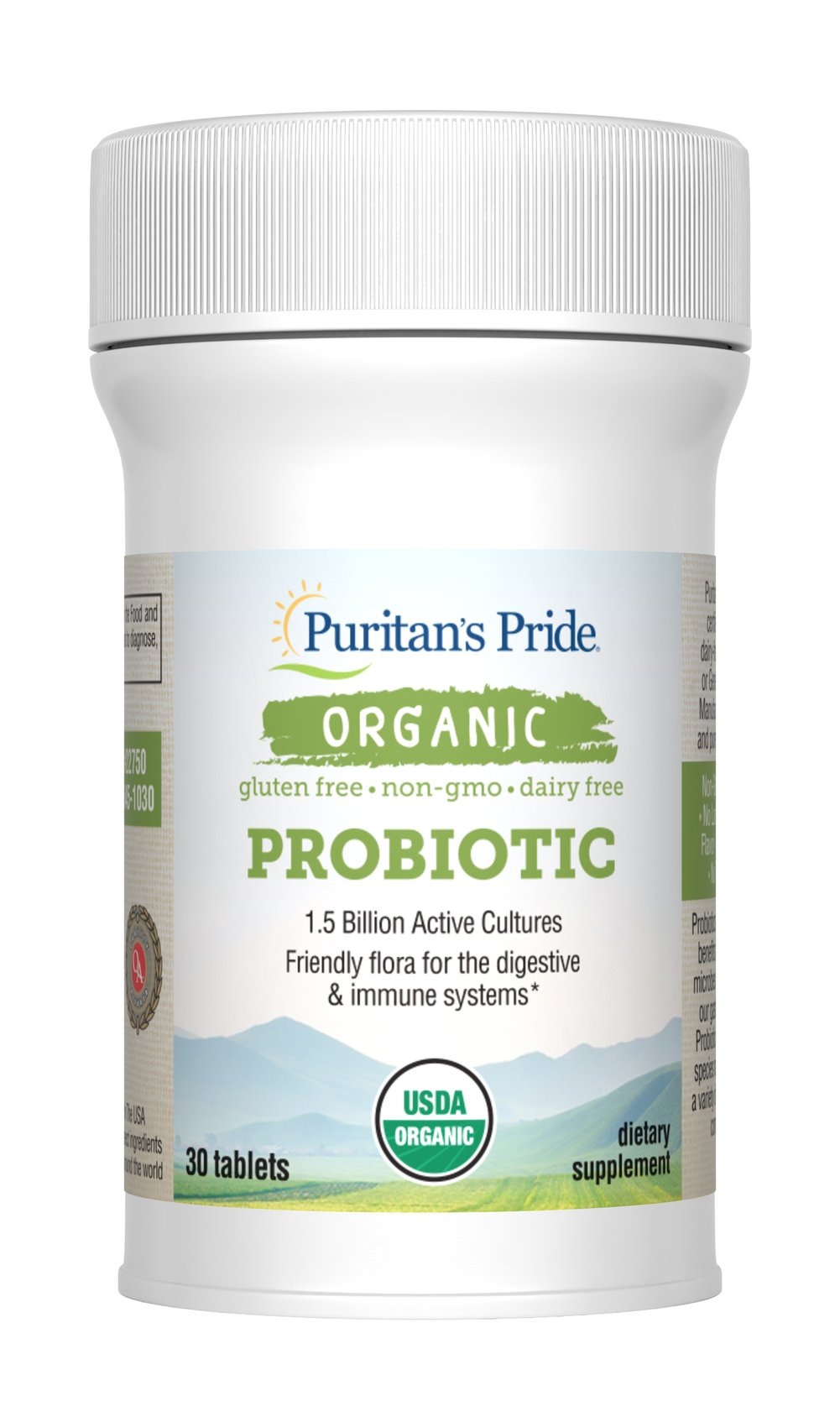 Organic Probiotic Thumbnail Alternate Bottle View