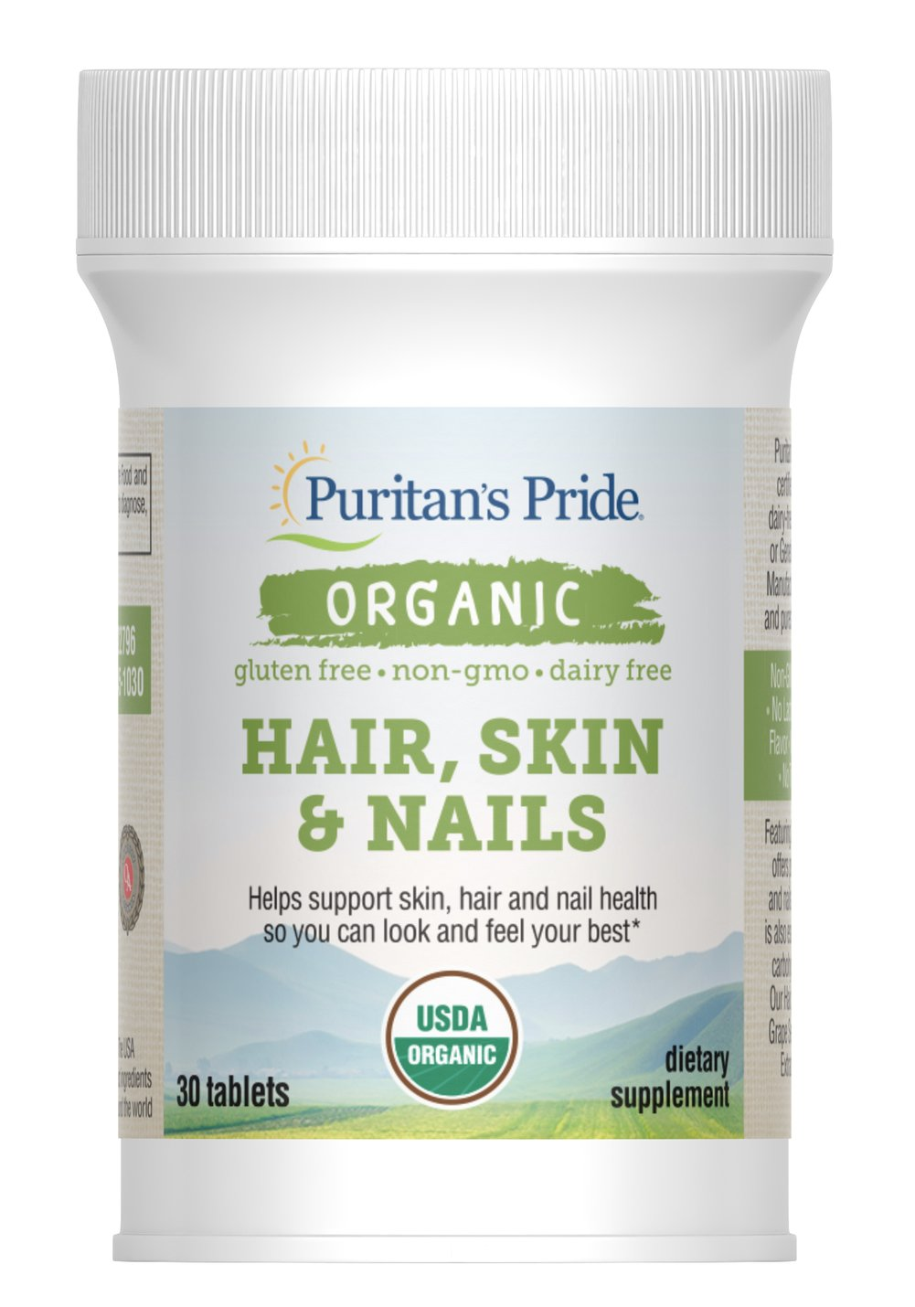 Organic Hair, Skin & Nails with Zinc Thumbnail Alternate Bottle View