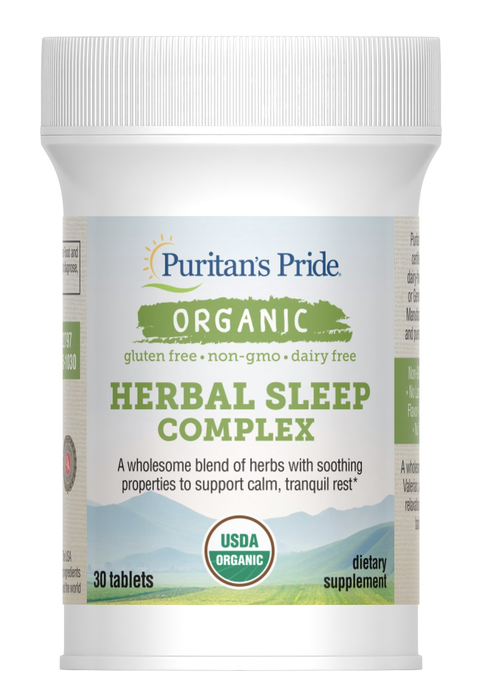 Organic Herbal Sleep Complex Thumbnail Alternate Bottle View