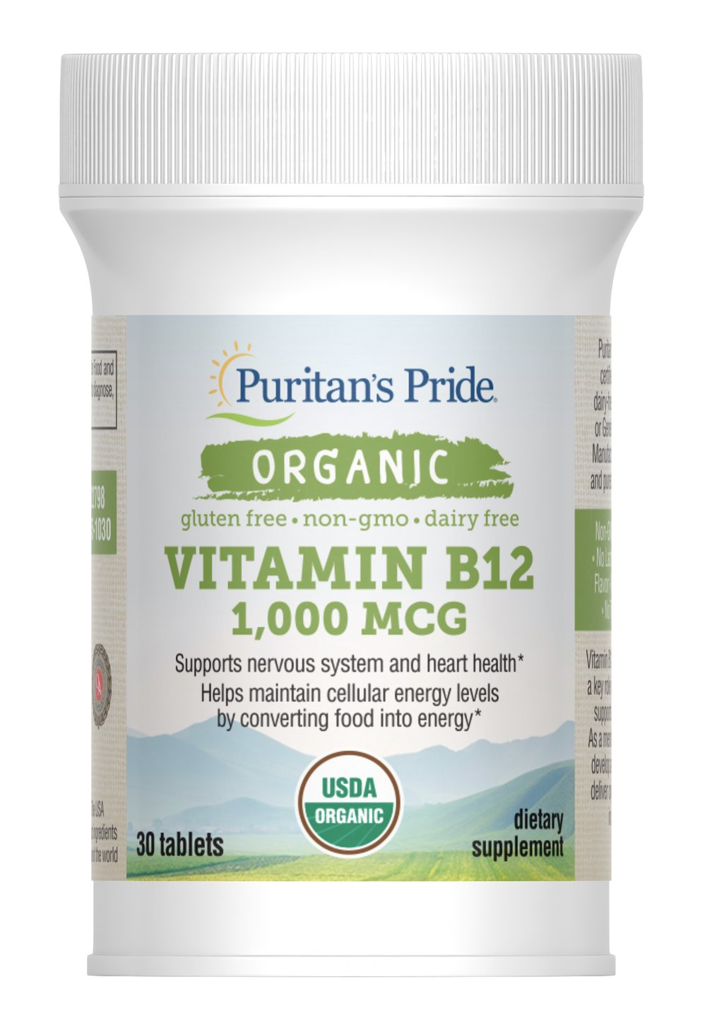 Organic Vitamin B-12 1,000 mcg Thumbnail Alternate Bottle View