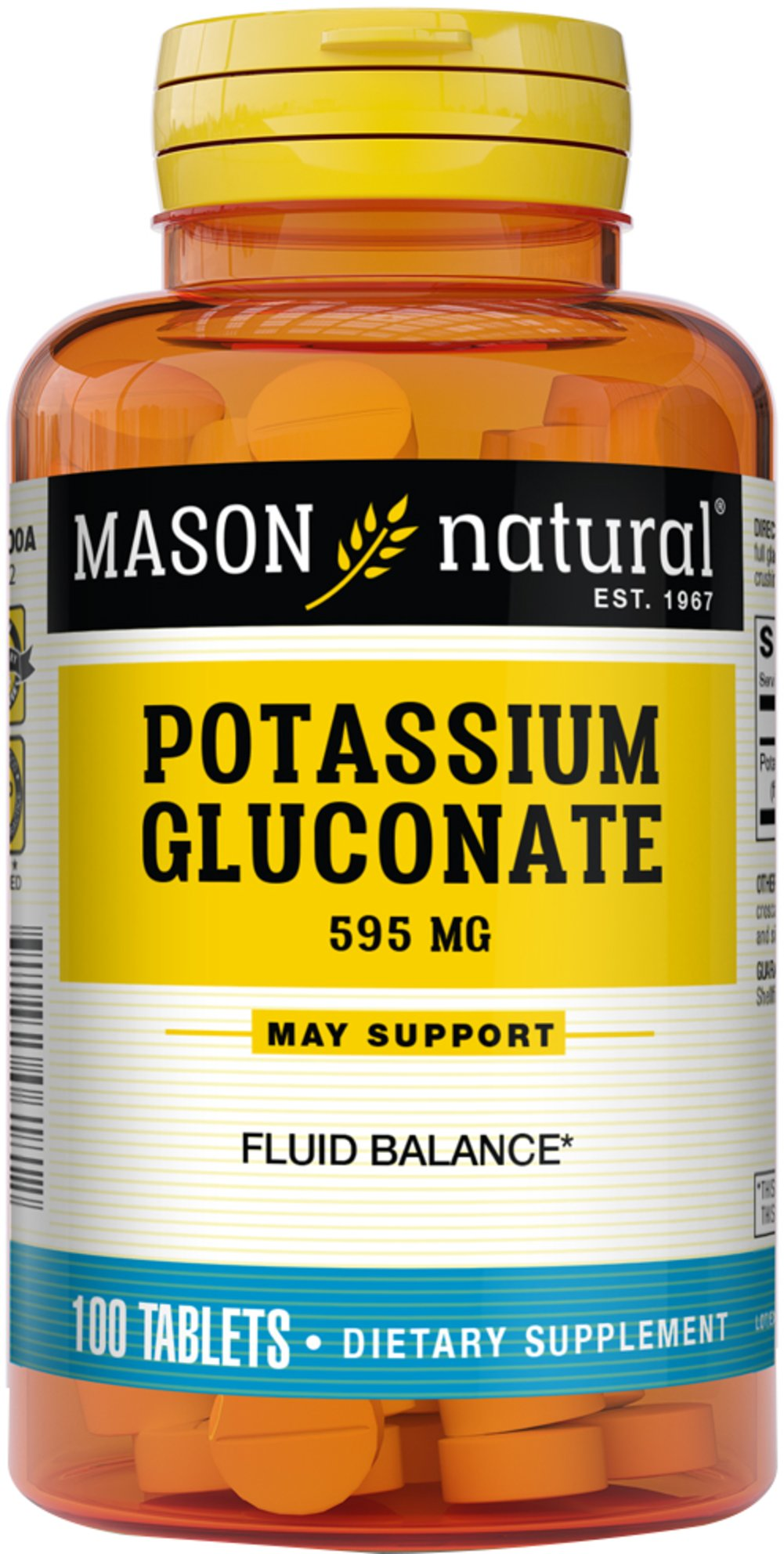 Potassium Gluconate 595 mg Thumbnail Alternate Bottle View