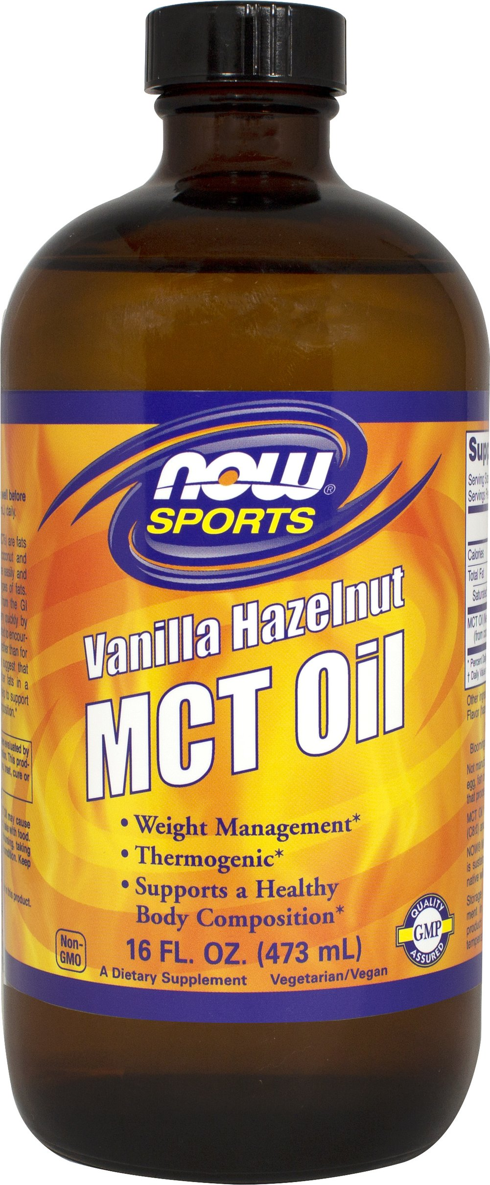 Vanilla Hazelnut MCT Oil Thumbnail Alternate Bottle View