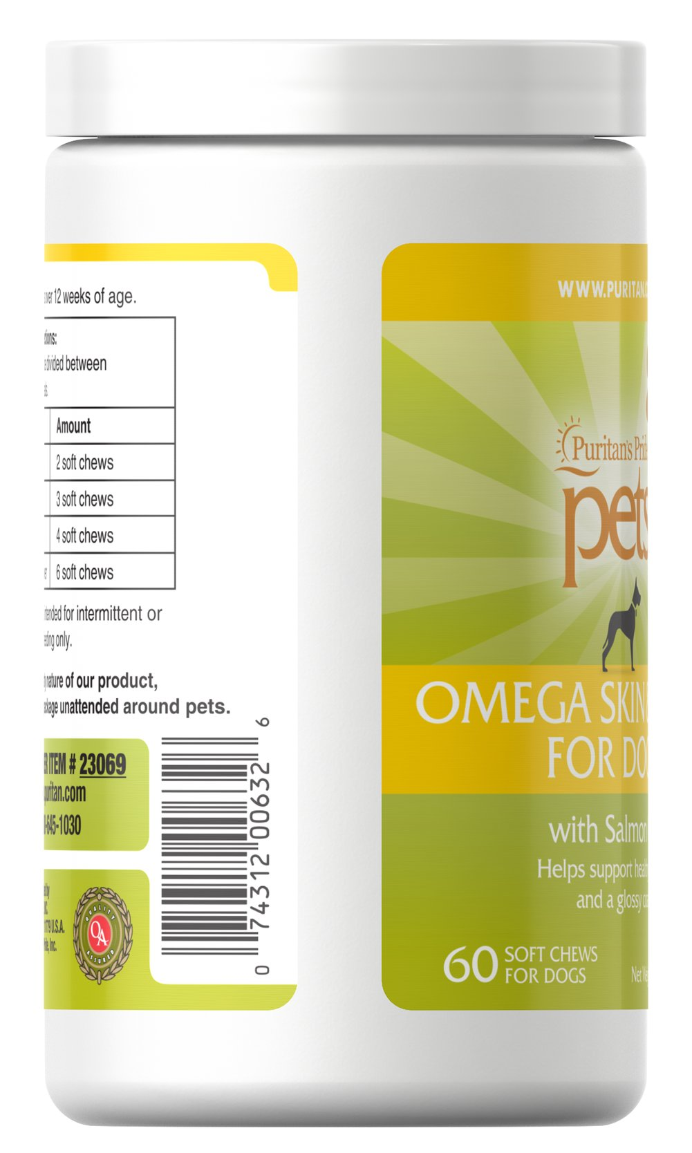 Omega Skin Coat for Dogs Thumbnail Alternate Bottle View