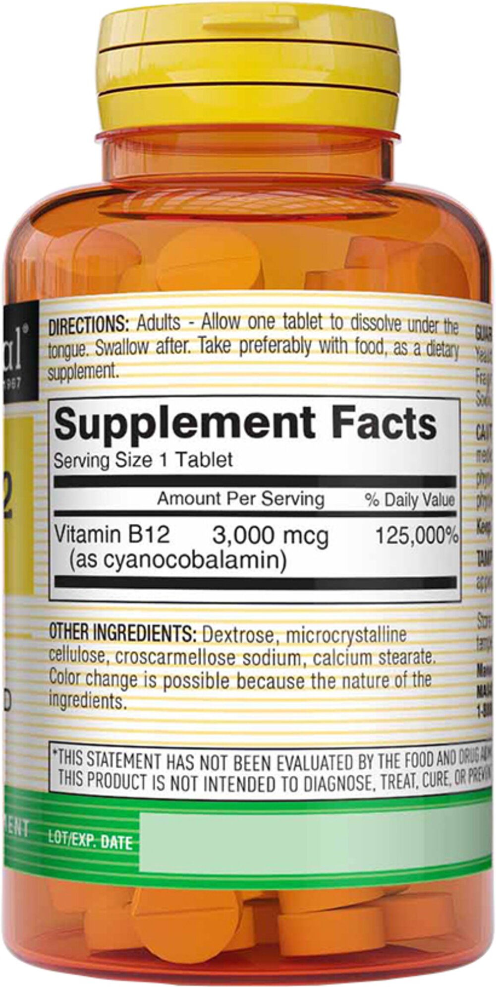 Vitamin B-12 3000 mcg Sublingual