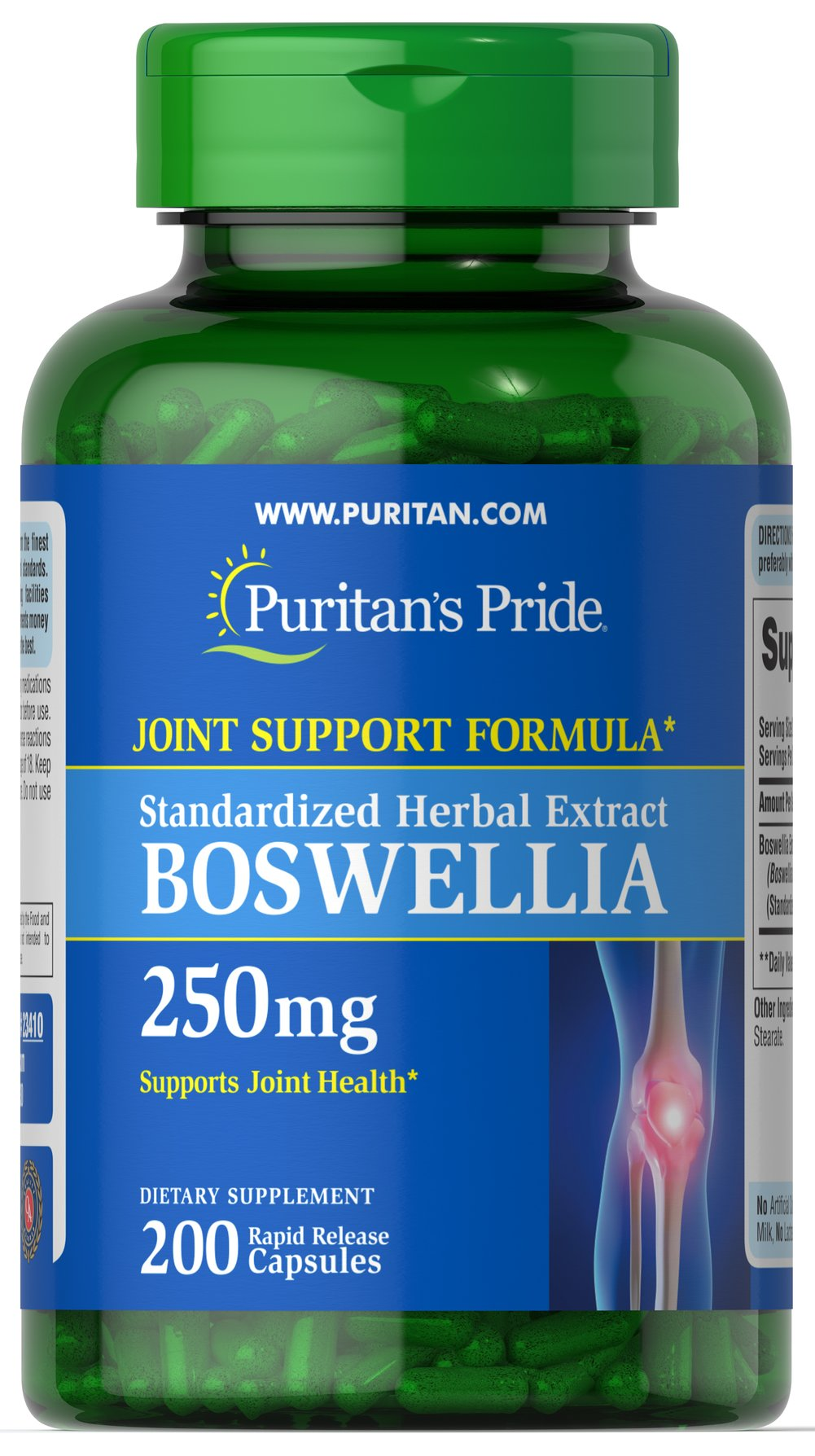 Boswellia Standardized Extract 250mg Thumbnail Alternate Bottle View