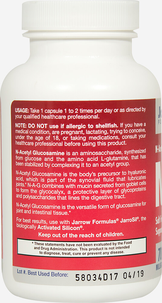 N-A-G N-Acetyl Glucosamine Thumbnail Alternate Bottle View