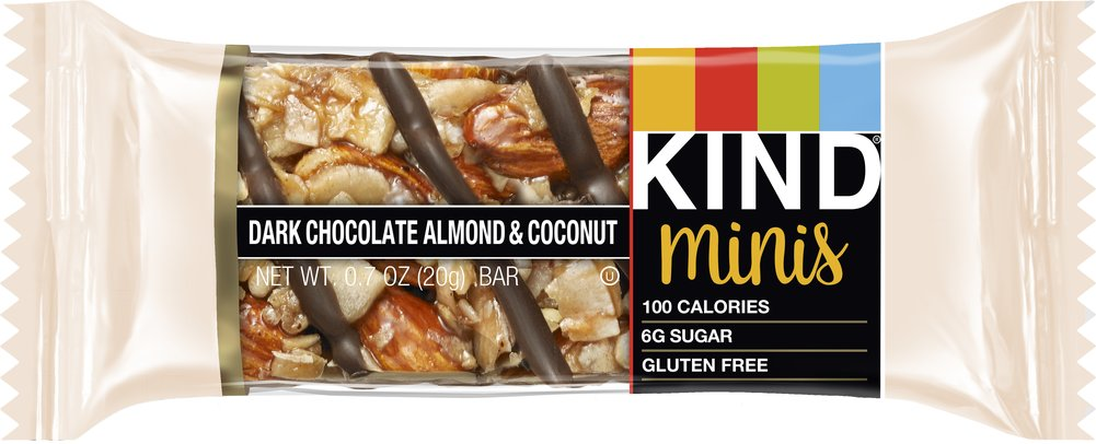 KIND Minis Salted Caramel Dark Chocolate & Dark Chocolate Almond Coconut