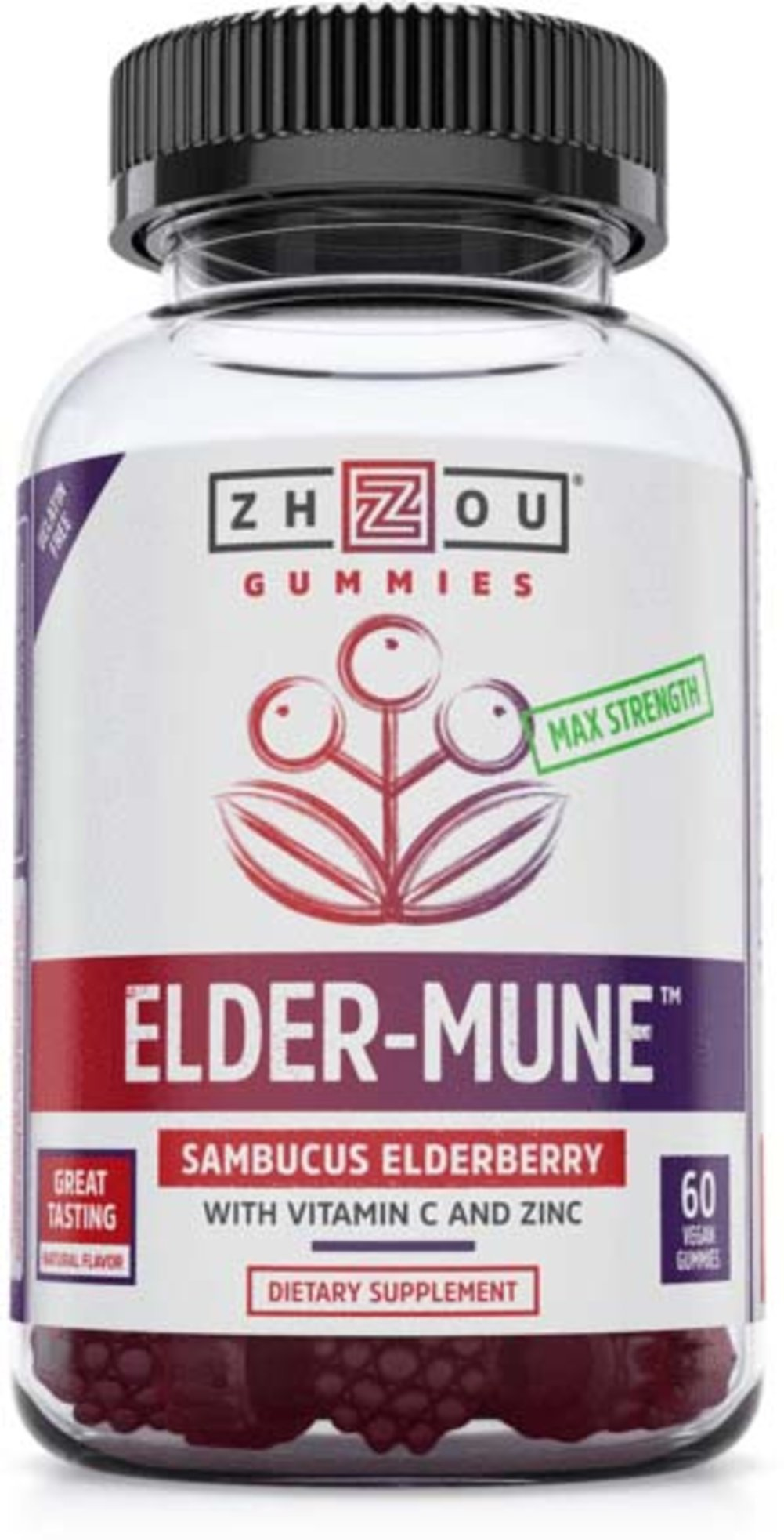 Elder-Mune Sambucus Elderberry Gummies