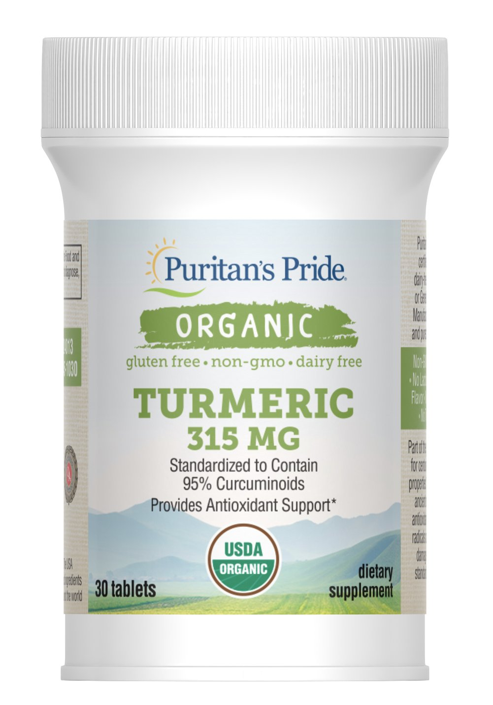 Organic Turmeric Extract 315 mg Thumbnail Alternate Bottle View