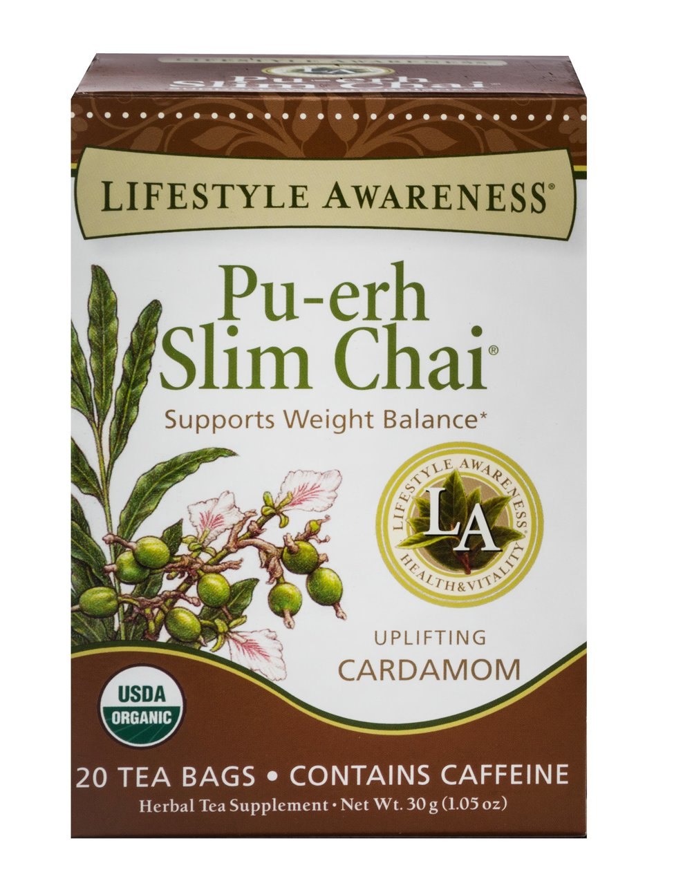 Organic Pu-erh Slim Chai Tea Thumbnail Alternate Bottle View