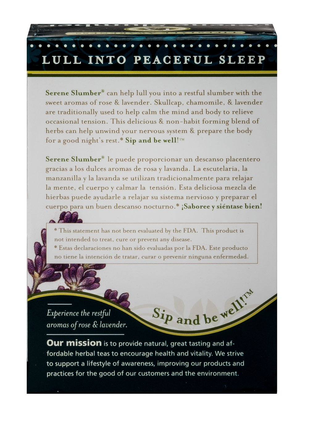 Organic Serene Slumber Tea Thumbnail Alternate Bottle View