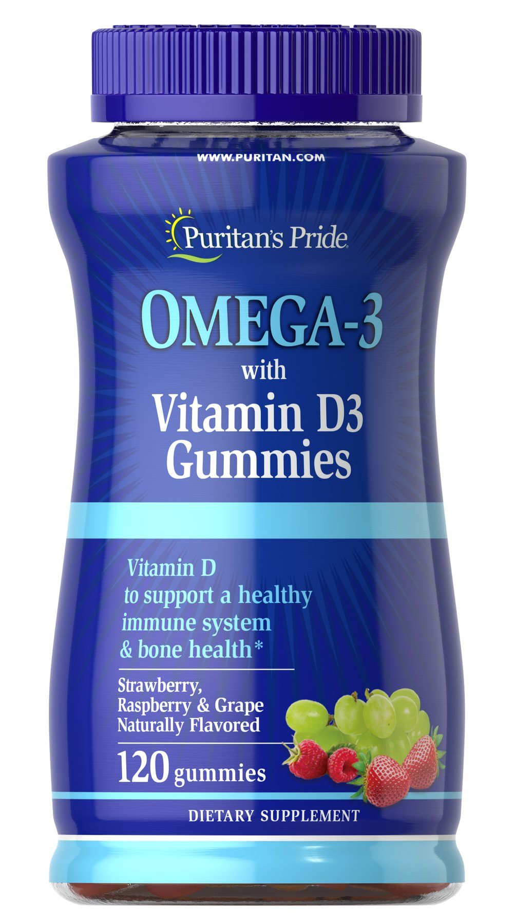 Omega 3 Gummy with Vitamin D3 Thumbnail Alternate Bottle View