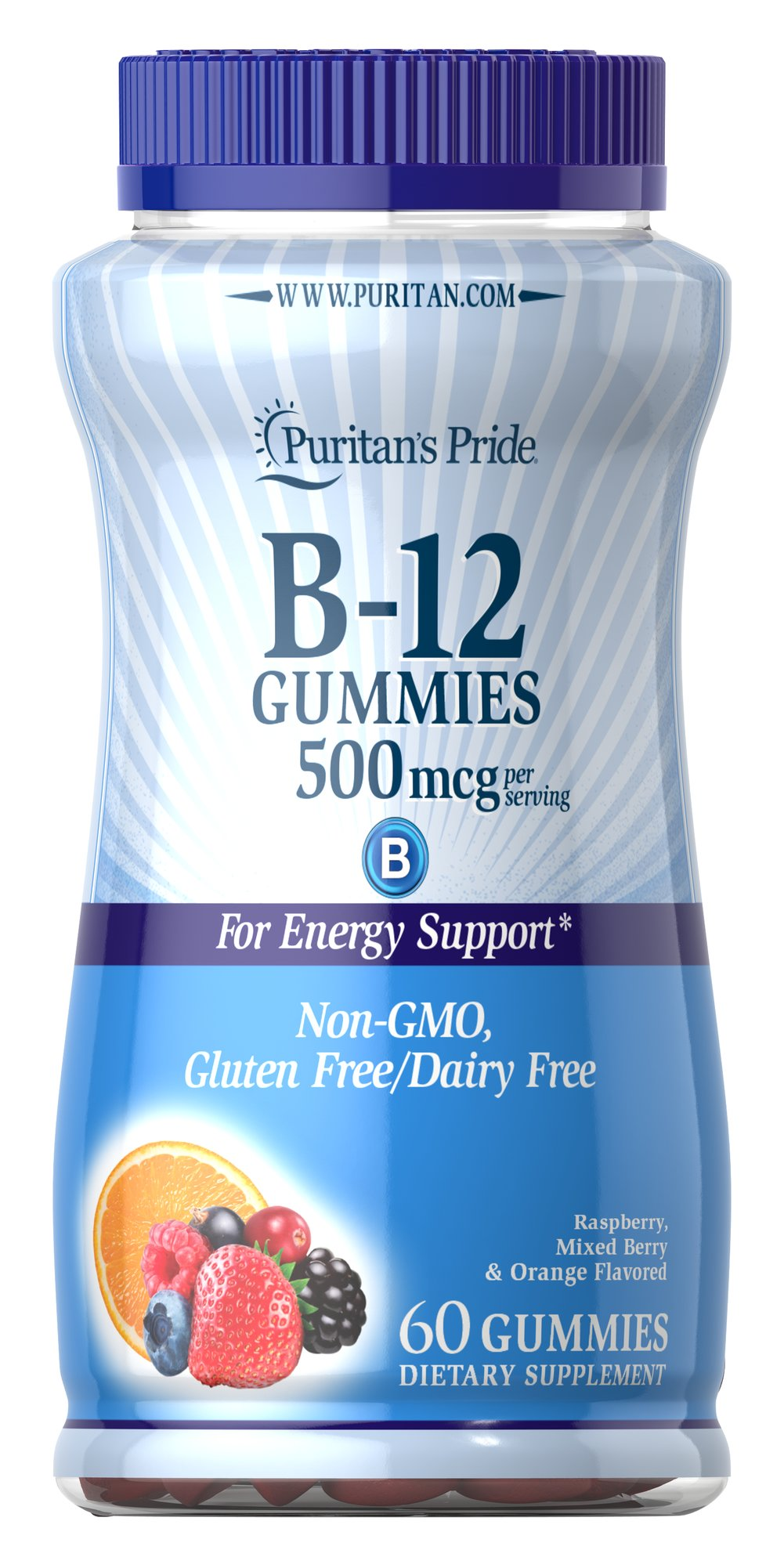 Vitamin B12 Gummies 500 MCG Thumbnail Alternate Bottle View