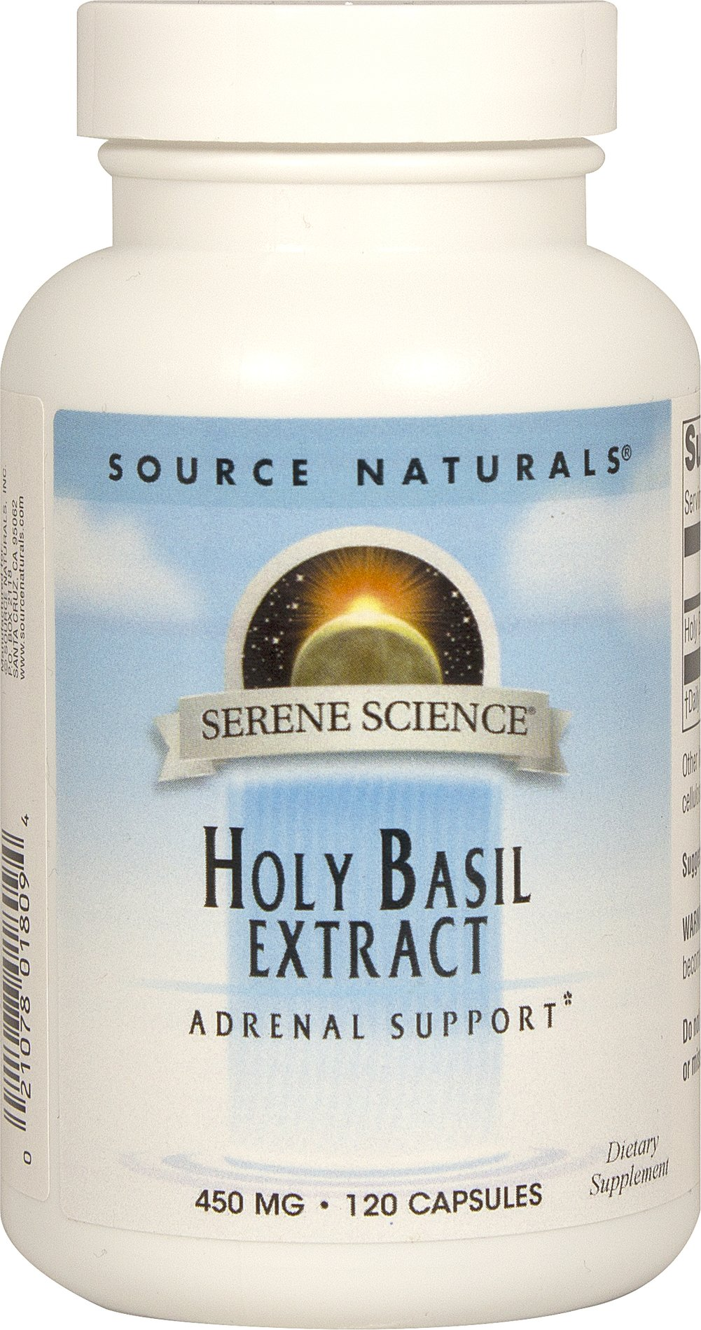 Holy Basil Extract 450 mg Thumbnail Alternate Bottle View