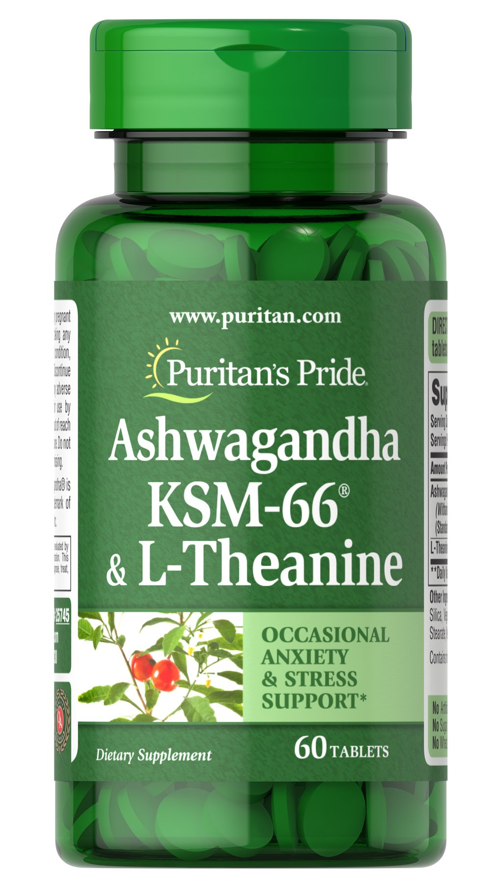 Ashwagandha KSM-66® & L-Theanine Thumbnail Alternate Bottle View