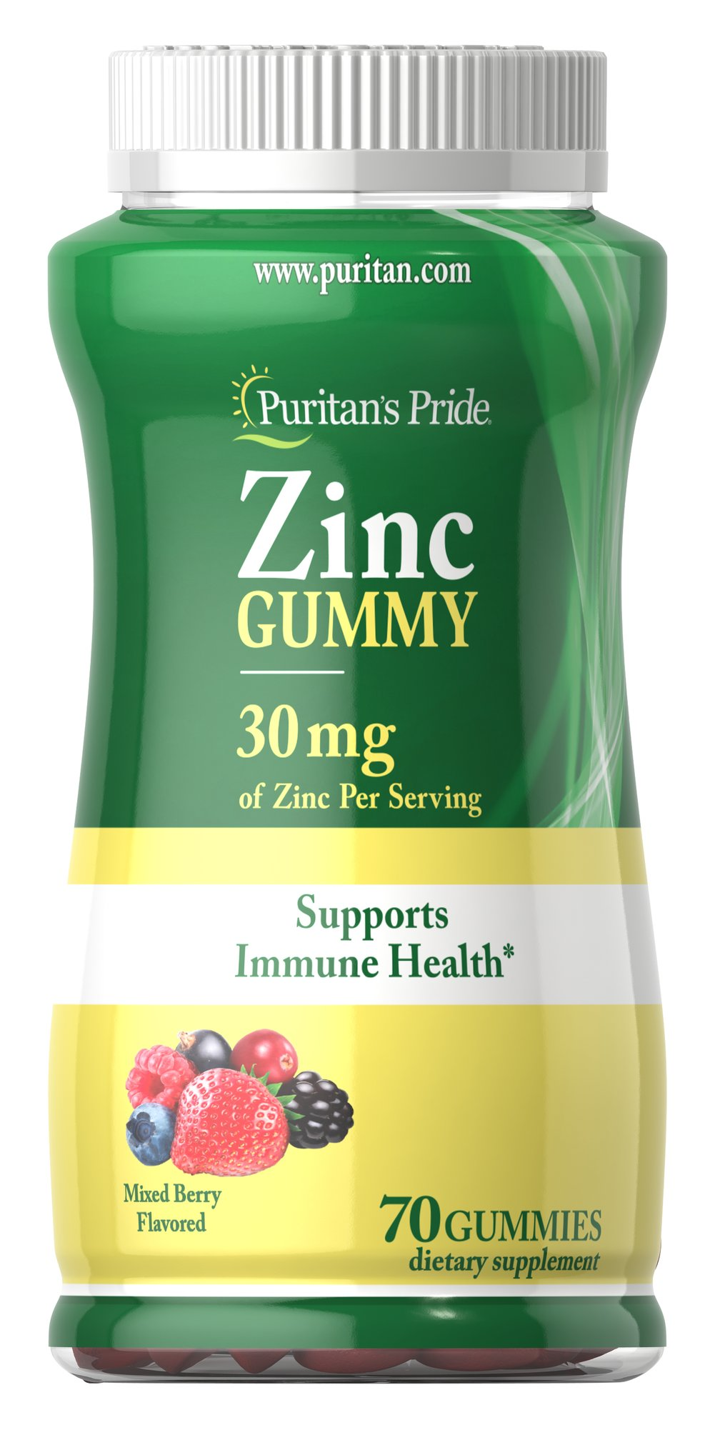 Zinc Gummy 30 mg Thumbnail Alternate Bottle View