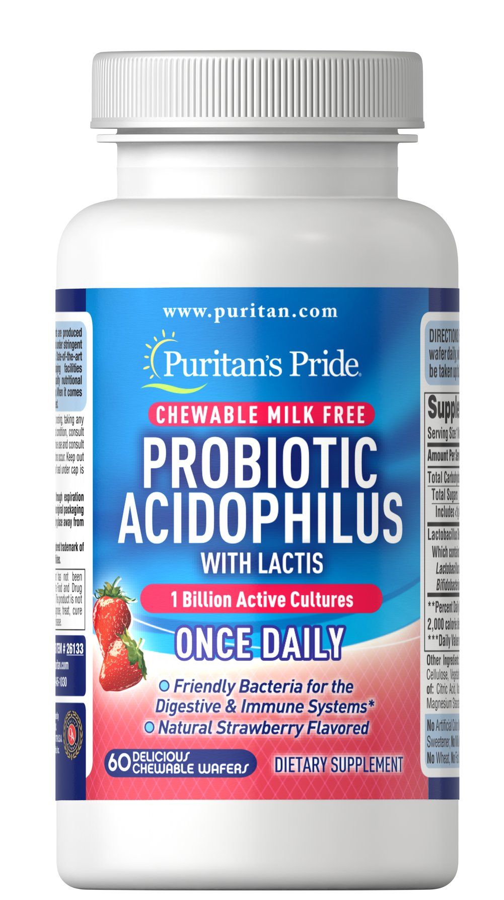 Chewable Probiotic Acidophilus with Lactis