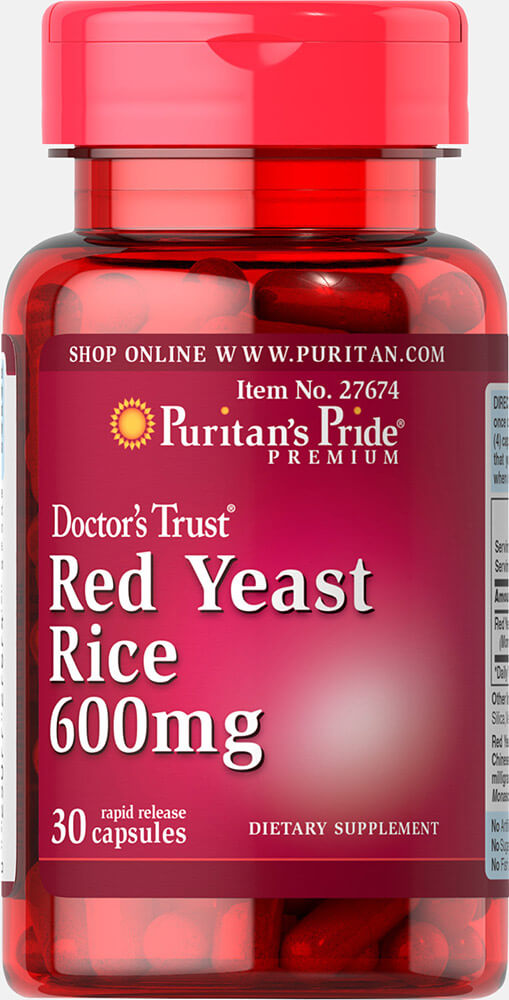 Red Yeast Rice 600 mg Trial Size