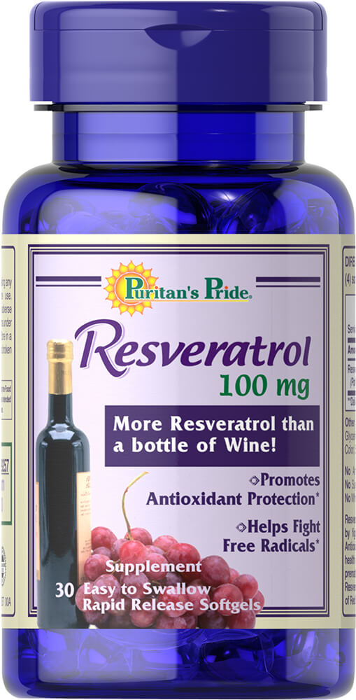 Resveratrol 100 mg Trial Size Thumbnail Alternate Bottle View