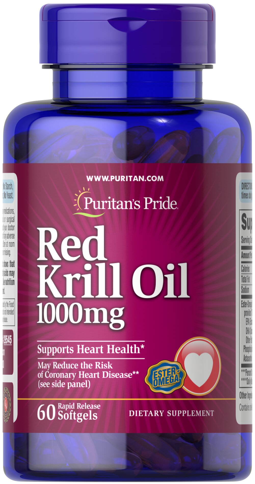 red krill oil 1000 mg 170 mg active omega 3 60 softgels