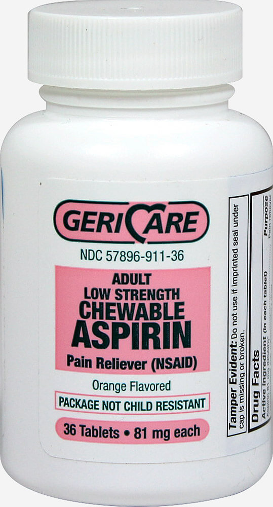 Low Dose Aspirin Chewable 81 mg