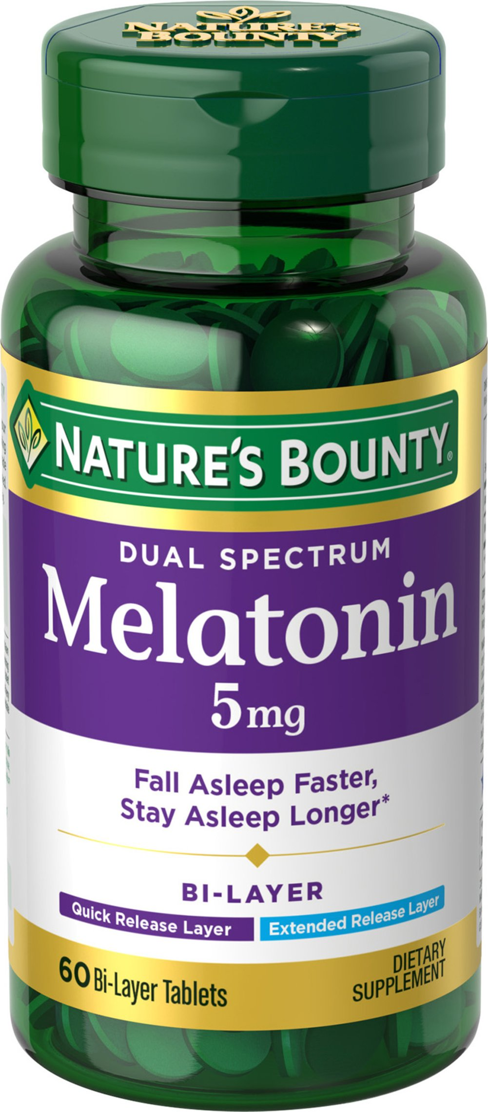 Nature's Bounty® Dual Spectrum Melatonin 5 mg
