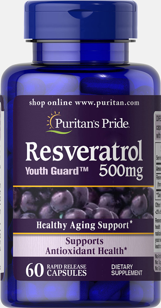 Resveratrol 500 mg Thumbnail Alternate Bottle View