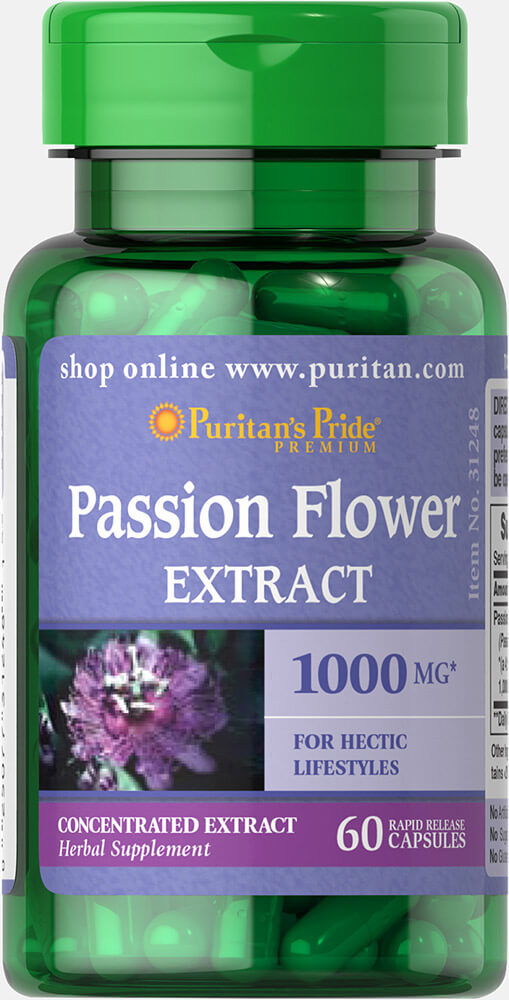 Passion Flower 1000 mg Thumbnail Alternate Bottle View