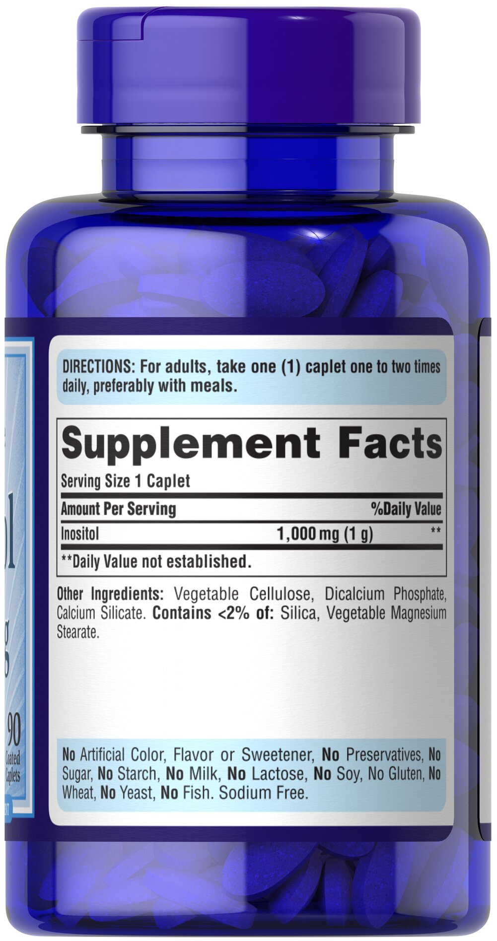 Inositol 1000 mg Thumbnail Alternate Bottle View
