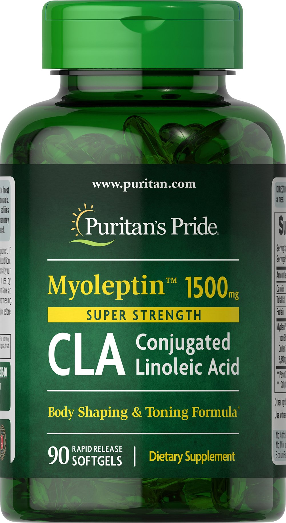 Puritan's Pride Super Strength Myo-Leptin? ; CLA 1500 mg-90 Softgels has been used for decades for those dieting the healthy way and even the not so healthy way