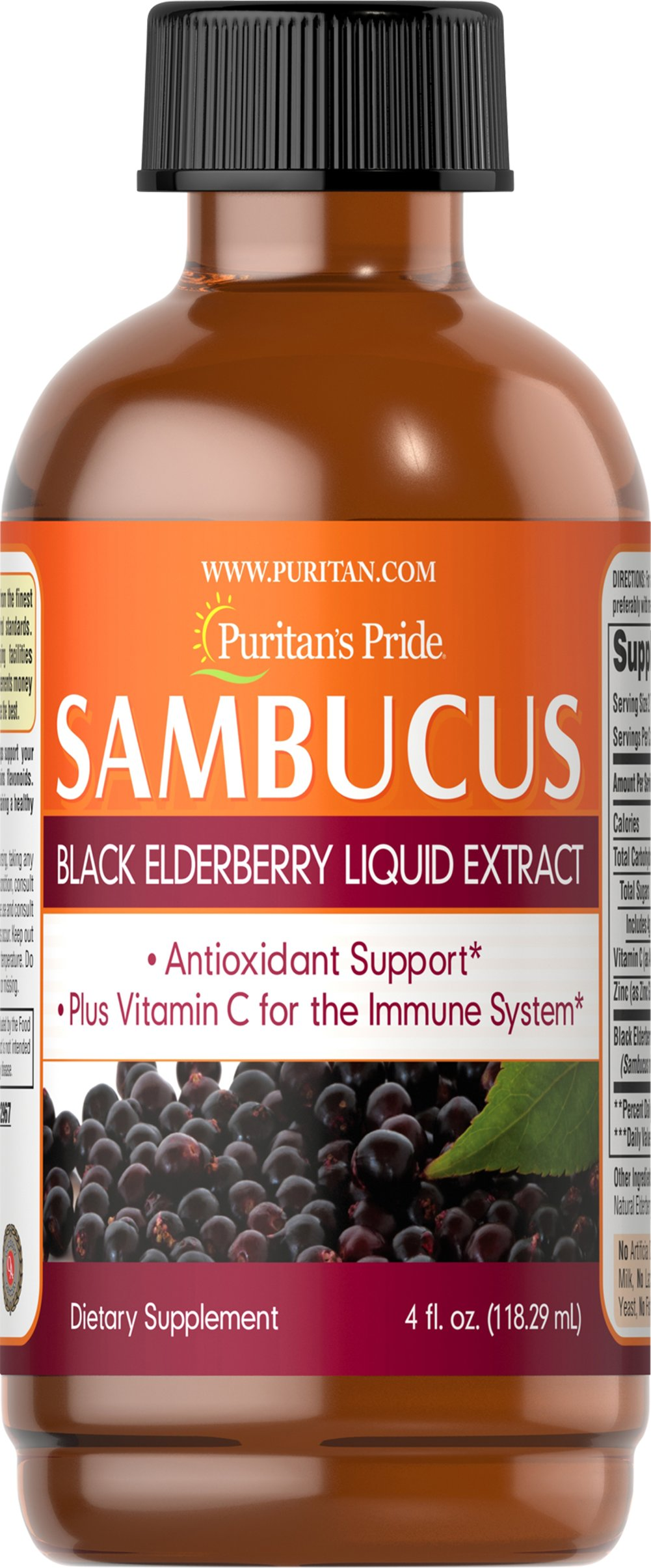 Sambucus Black Elderberry Liquid Extract Thumbnail Alternate Bottle View