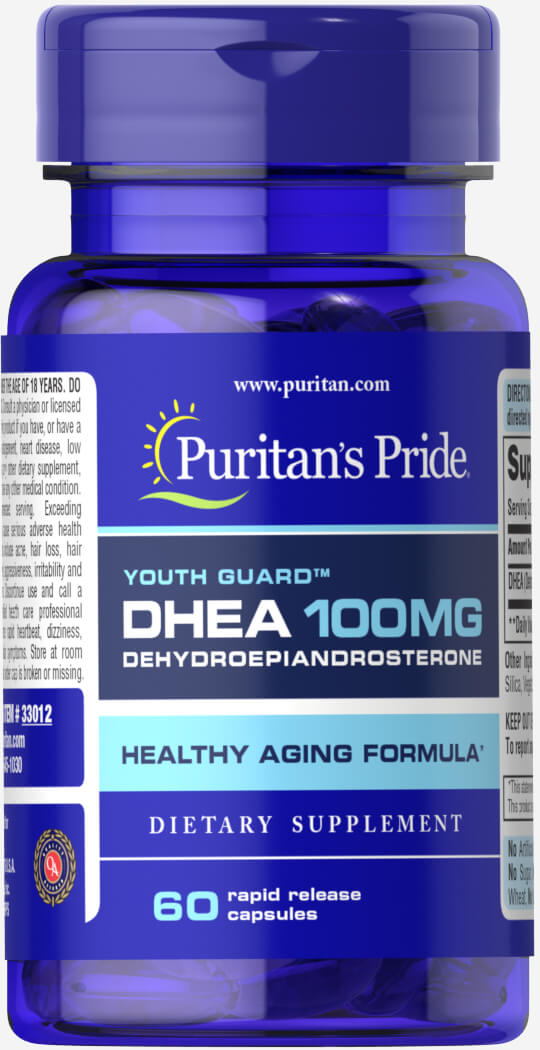 DHEA 100 mg Thumbnail Alternate Bottle View