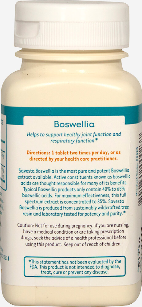Boswellia 500 mg Standardized Extract Thumbnail Alternate Bottle View