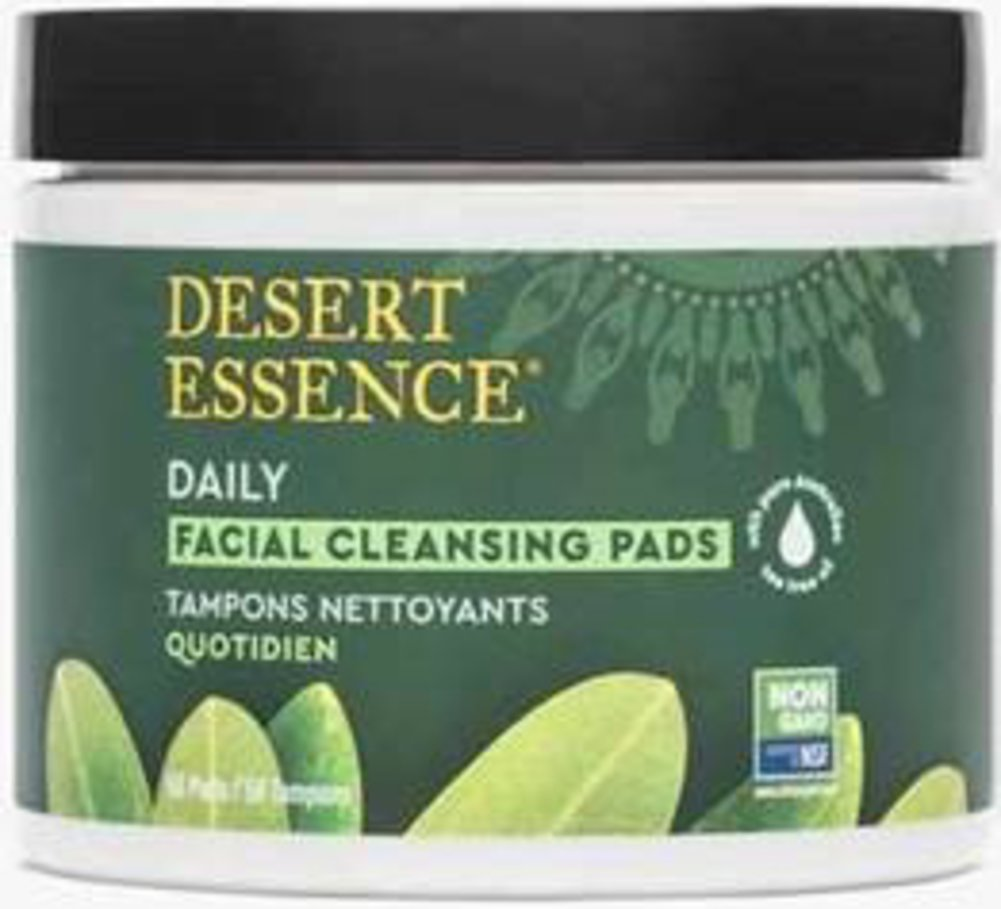 Desert Essence® Tea Tree Oil Facial Cleansing Pads Thumbnail Alternate Bottle View