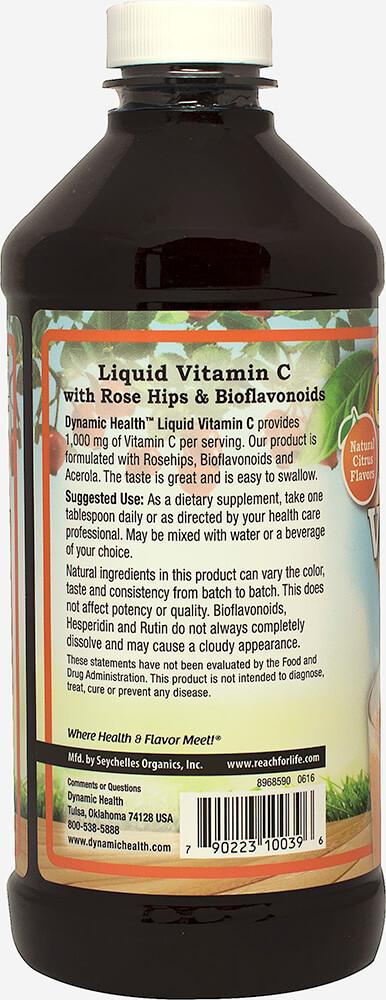 Liquid Vitamin C 1000 mg Thumbnail Alternate Bottle View