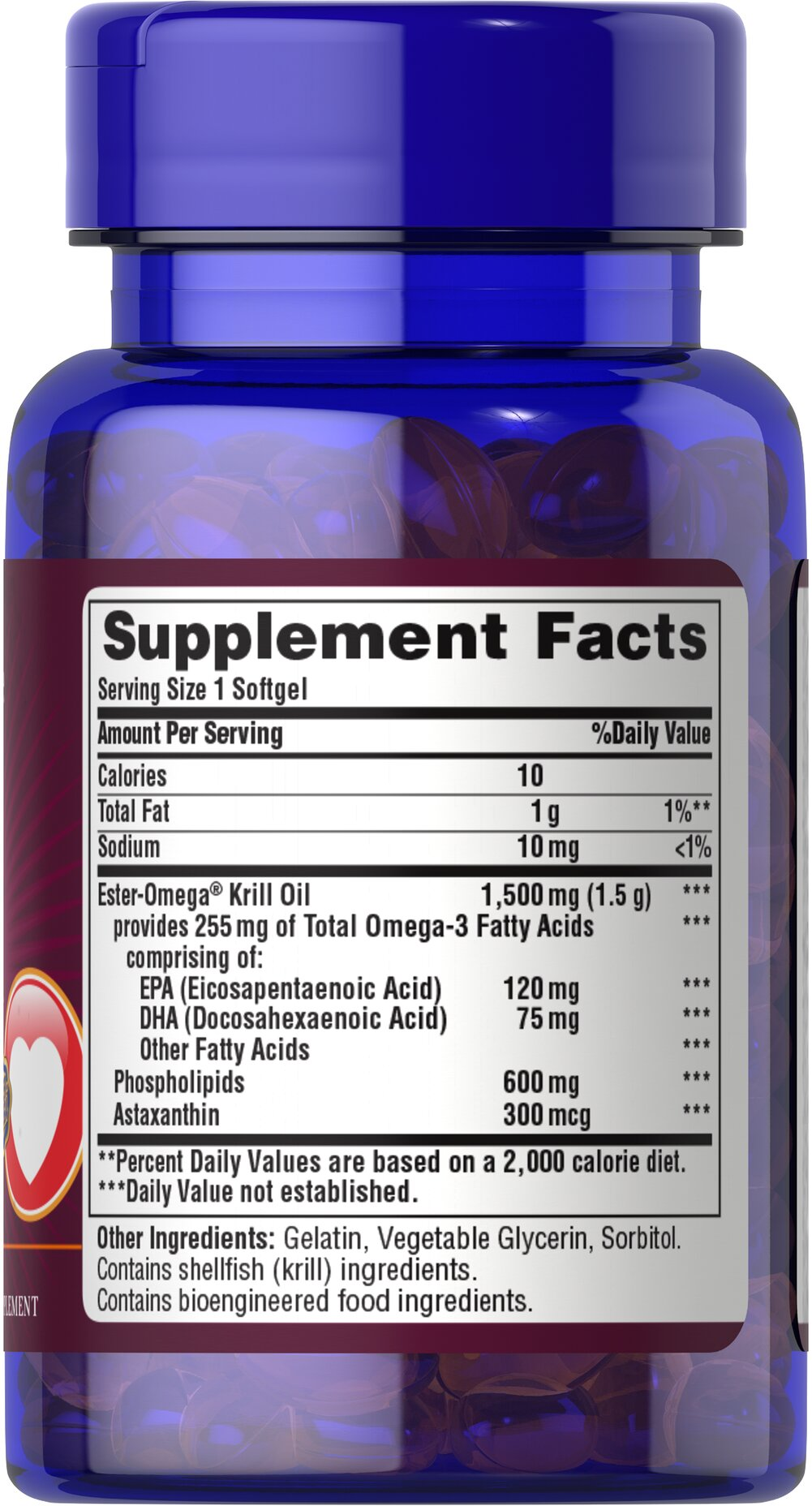Maximum Strength Red Krill Oil 1500 Mg 255 Active Omega 3 30 Wellness 1000 150 Buy 1 Get Free 2